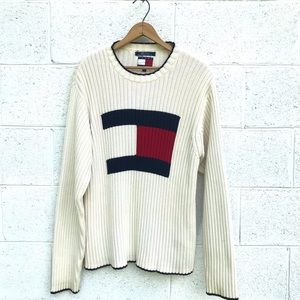 Vintage Tommy Hilfiger Ribbed Knit Sweater
